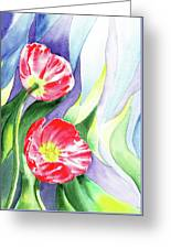 Poppy Couple Gentle Wind Greeting Card