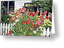 Poppy Fence Greeting Card