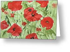 Poppy Field 1 Greeting Card