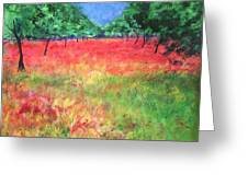 Poppy Field II Greeting Card