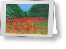 Poppy Field In Ibiza Greeting Card