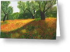 Poppy Field Greeting Card