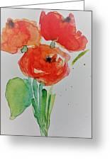 Poppy Flowers 1 Greeting Card