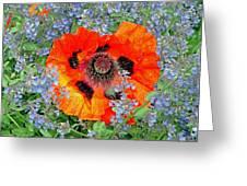 Poppy In Blue Greeting Card