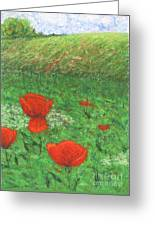 Poppy In Country Greeting Card