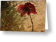 Poppy In The Dawn Greeting Card