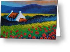 Poppy Meadow Greeting Card by John  Nolan