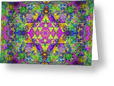 Poppy Opal Yantra Greeting Card