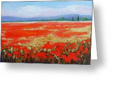 Poppy Poetry I Greeting Card