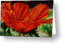 Poppy Side View Greeting Card