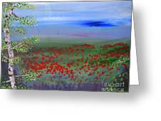 Poppy Valley Greeting Card by Jamie Hartley