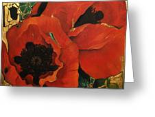 Poppygold Greeting Card