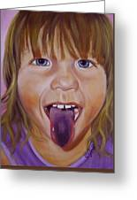 Popsicle Tongue Greeting Card