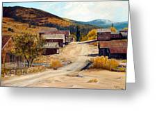 Population 0 Ghost Town Of Silver City Idaho Greeting Card by Evelyne Boynton Grierson