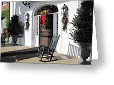 Porch At Boone Hall Plantation Charleston Sc Greeting Card
