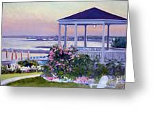 Porch At Sunet Greeting Card