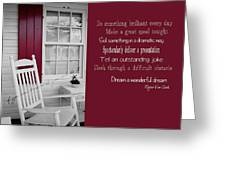 Porch Dreams Quote Greeting Card