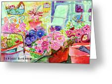 Porch Flowers Greeting Card