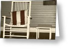 Porch Rocker Greeting Card
