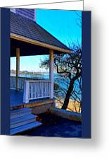 Porch View In Annisquam Greeting Card