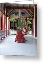 Porch With Rocking Chairs Greeting Card