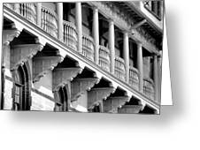 Porches Of Flagler College Greeting Card