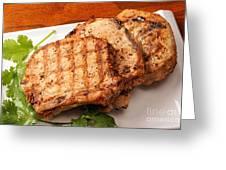 Pork Chop. Greeting Card