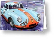 Porsche 356 Gulf Greeting Card by Yuriy  Shevchuk