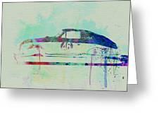 Porsche 356 Watercolor Greeting Card
