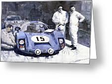 Porsche 906 Daytona 1966 Herrmann-linge Greeting Card by Yuriy  Shevchuk