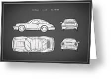 Porsche 911 Cabriolet Patent Greeting Card