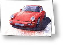 Porsche 911 Carrera 2 1990 Greeting Card