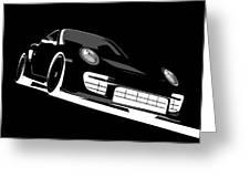 Porsche 911 Gt2 Night Greeting Card