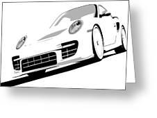 Porsche 911 Gt2 White Greeting Card