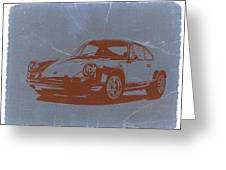 Porsche 911 Greeting Card by Naxart Studio