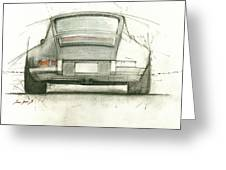 Porsche 911 Rs Greeting Card by Juan Bosco