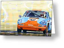 Porsche 911 S  Classic Le Mans 24  Greeting Card by Yuriy  Shevchuk