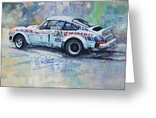 Porsche 911 Sc  Rallye Sanremo 1981 Greeting Card