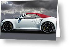 Porsche 911 Turbo S With Clouds Greeting Card