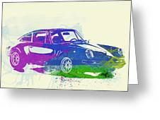 Porsche 911 Watercolor Greeting Card by Naxart Studio