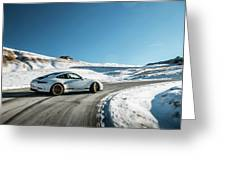 Porsche 911r Powerslide Greeting Card