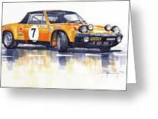 Porsche 914-6 Gt Rally Greeting Card