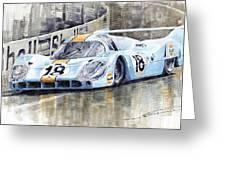 Porsche 917 Lh 24 Le Mans 1971 Rodriguez Oliver Greeting Card by Yuriy  Shevchuk
