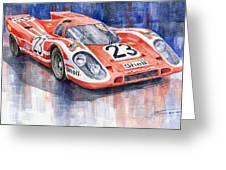 Porsche 917k Winning Le Mans 1970 Greeting Card