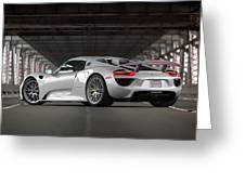 #porsche #918spyder #print Greeting Card