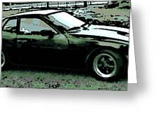 Porsche 944 On A Hot Afternoon Greeting Card