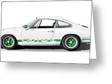 Porsche Carrera Rs Illustration Greeting Card