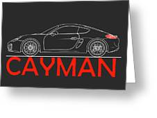Porsche Cayman Phone Case Greeting Card