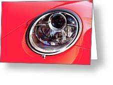 Porsche Headlight Greeting Card