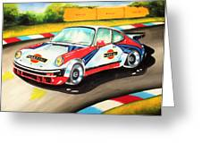 Porsche In Action Greeting Card